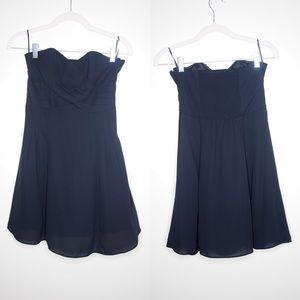 Express strapless black mini dress in size 2